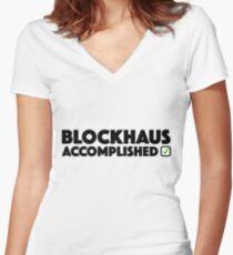 Blockhaus Accomplished Cycling Climb Giro Italy  Women's Fitted V-Neck T-Shirt