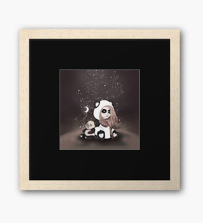 Find the place you call home among the stars Framed Print