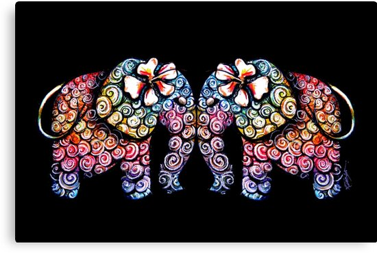 Tattoo Babies elephants by © Karin Taylor