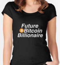 Future Bitcoin Billionaire  Women's Fitted Scoop T-Shirt
