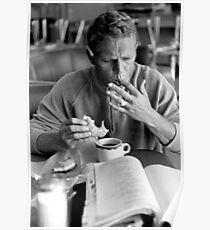 Steve McQueen eats a donut Poster