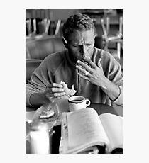 Steve McQueen eats a donut Photographic Print