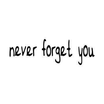 never forget you Text by crowncat