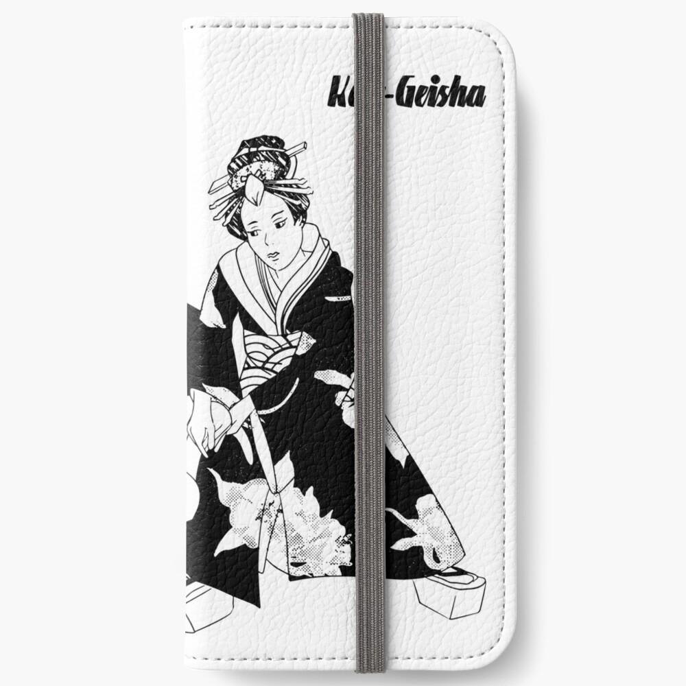 Étui portefeuille iPhone «Kote Geisha»