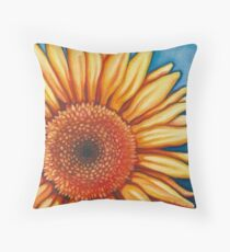 Sunflower (dark) Throw Pillow