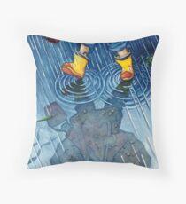 """""""A Walk in the Rain"""" Throw Pillow"""