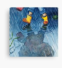 """A Walk in the Rain"" Canvas Print"