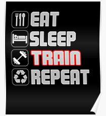 Eat Sleep Zug wiederholen Poster