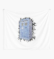 Tardis Abstract Wall Tapestry