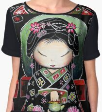 Little Green Teapot Women's Chiffon Top