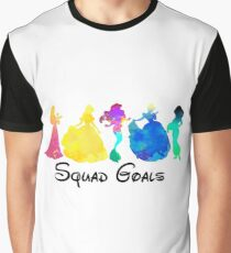 Princess Squad Goals Inspired Silhouette Graphic T-Shirt