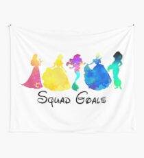 Princess Squad Goals Inspired Silhouette Wall Tapestry
