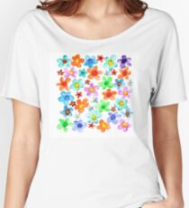 Watercolor flowers Women's Relaxed Fit T-Shirt
