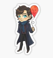 Sherlock & Balloon John Sticker