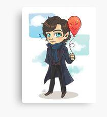 Sherlock & Balloon John Canvas Print
