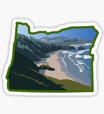 Oregon State Coastline  Sticker