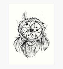 dreamcatcher drawing art prints redbubble