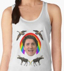 Canada pride Justin Trudeau.  Women's Tank Top