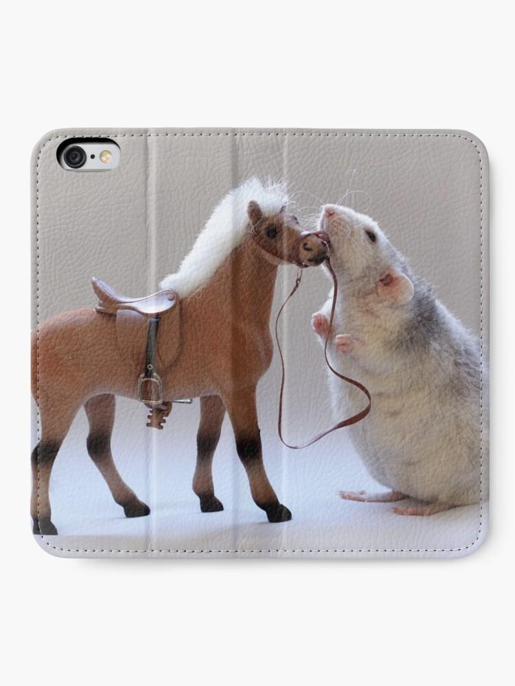 Alternative Ansicht von Ich liebe Pferde! iPhone Flip-Case