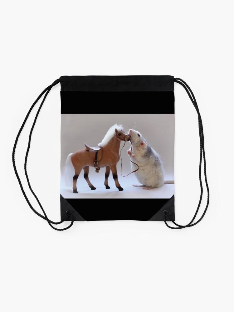 Alternative Ansicht von Ich liebe Pferde! Turnbeutel
