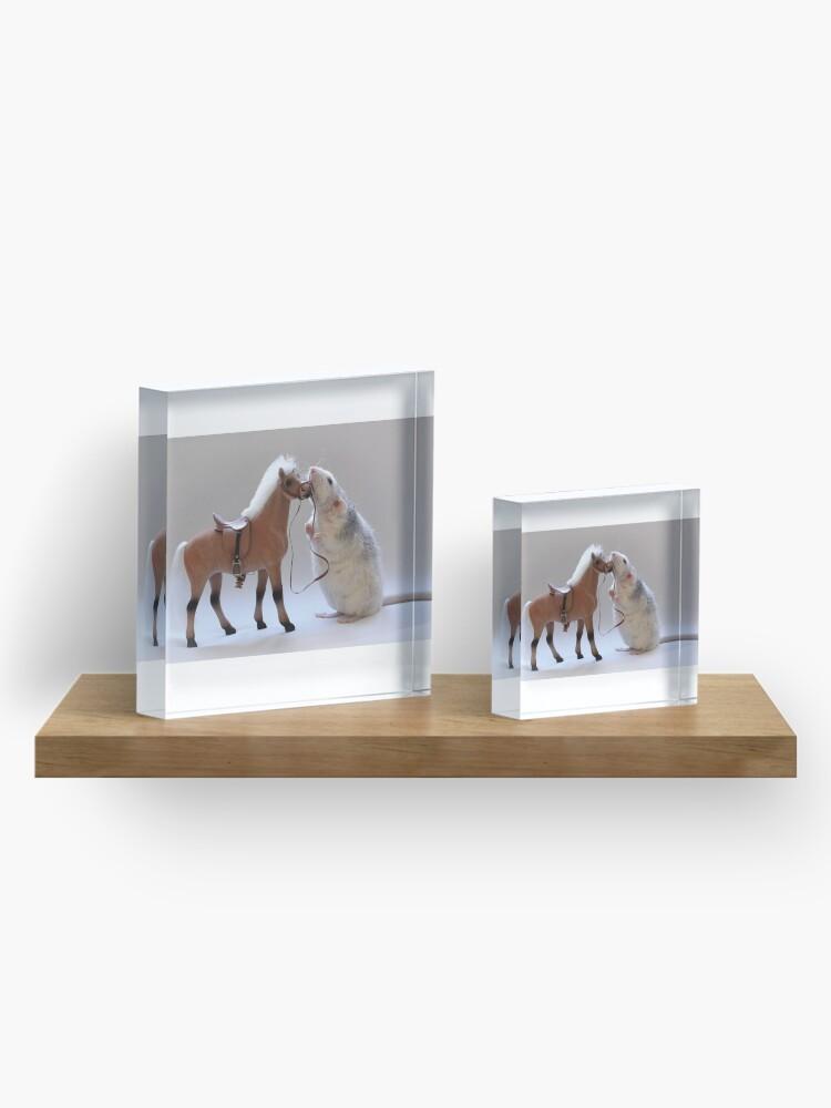 Alternative Ansicht von Ich liebe Pferde! Acrylblock
