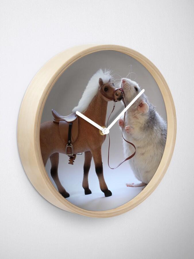 Alternative Ansicht von Ich liebe Pferde! Uhr