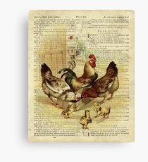 Vintage Chicken on Psalm 32 Canvas Print