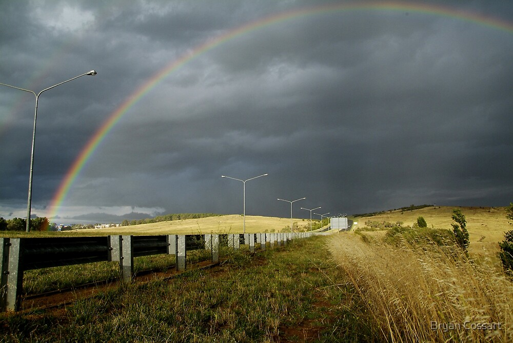 Rainbow In Canberra by Bryan Cossart