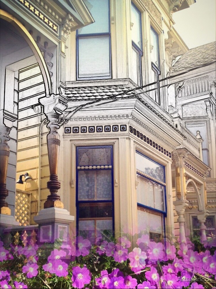 SF Victorian Detail with Flower by Artsygirl28