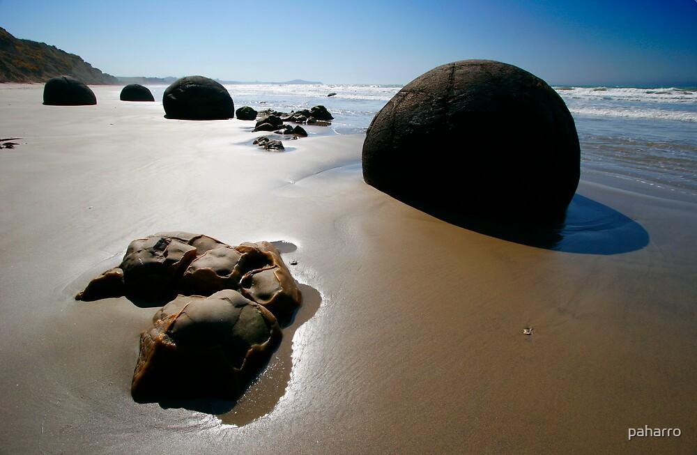 Boulders by the Ocean - Moeraki by Peter Harrison