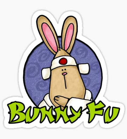 Bunny Fu Sticker