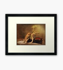 Poppy in still life Framed Print