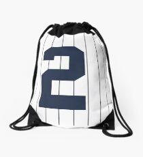 Number 2 Pinstripe Design Drawstring Bag