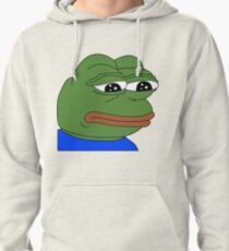 Sad Pepe the Frog Pullover Hoodie
