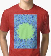 Flower Garden Blue Tri-blend T-Shirt