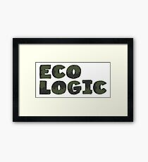 Typography Word Eco Logic  Framed Print
