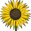 SUNFLOWER YELLOW CUTE COLORFUL FLOWER FLOWERS by MyHandmadeSigns