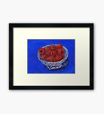 The Crystal Clear Choice For Snacking Framed Print