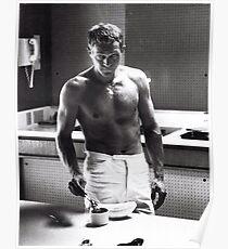 Steve McQueen Making Coffee  Poster