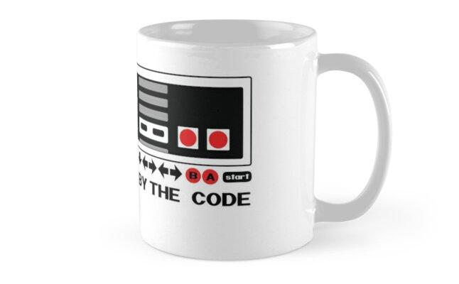 Nintendo Konami - Live by the Code (NES) Mug