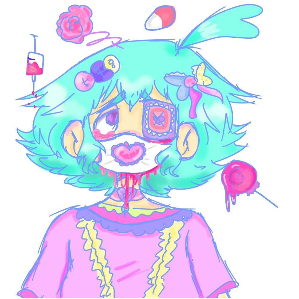 Fairy kei medical mask print by the-cooliest