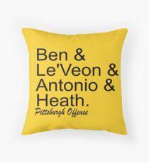 Pittsburgh Offense Throw Pillow