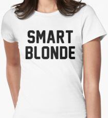 smart blonde Womens Fitted T-Shirt