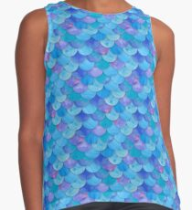 Mermaid Blue Seamless Pattern Contrast Tank