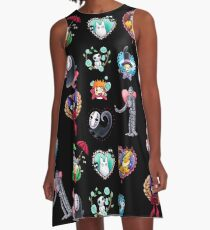 Ghibli Valentine's Mash Up A-Line Dress