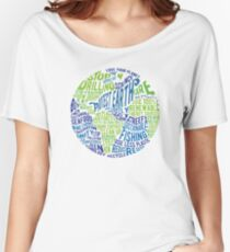 Protect Earth - Word Bubble Women's Relaxed Fit T-Shirt