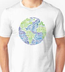 Schütze Erde - Wortblase Slim Fit T-Shirt