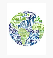 Protect Earth - Word Bubble Photographic Print
