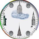 New York Landmarks Clock by steeber
