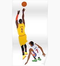 Kyrie Irving Shot Over Brandon Knight  Poster